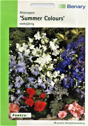 Stambiažiedžiai pentiniai Summer Colours (Delphinium grandiflorum)  40s