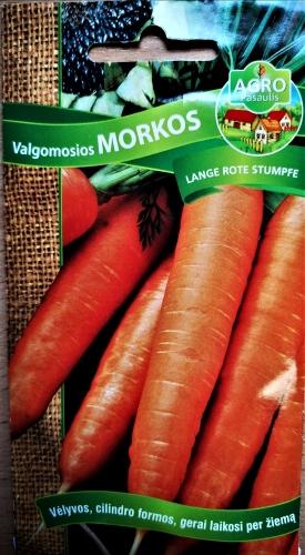 Valgomosios morkos Lange Rote stumpfe (Daucus carota subsp. sativus) 4000s