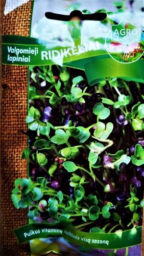 VALGOMIEJI RIDIKĖLIAI LAPINIAI MIŠINYS (Raphanus sativus L.) 260S