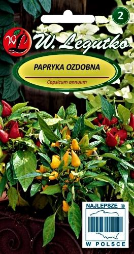 Vienmetė dekoratyvinė paprika ( Capsicum annuum) Sėklų 0,2g