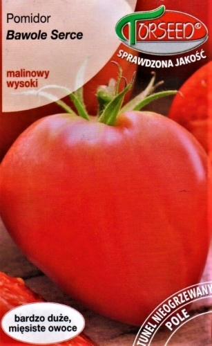 Valgomieji pomidorai Bawole Serce (lot. Lycopersicon esculentum) Sėklų 0,2g