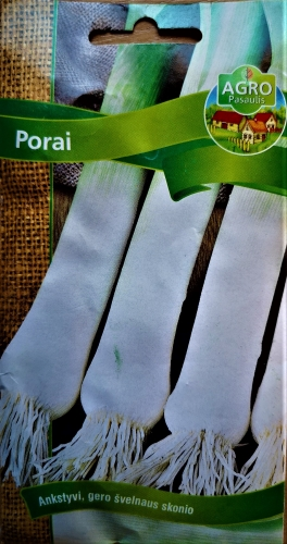 Daržiniai porai Starozagorski kamuš (Allium porrum) 400s