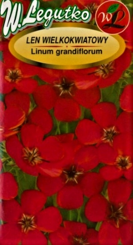 Stambiažiedžai linai raudoni (lot. Linum grandiflorum) Sėklų 1g