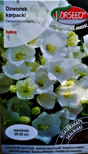 Karpatinis katilėlis (baltas) (lot. Campanula carpatica) Sėklų 0,5g