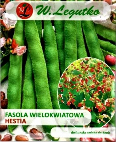Raudonžiedės pupelės (gliaudomos) Hestia (lot. Phaseolus coccineus) 40g